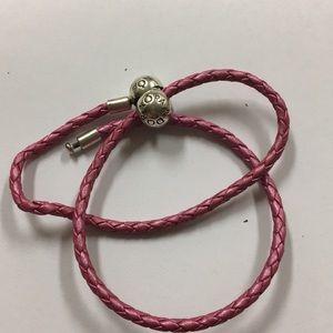 Authentic Pandora leather double wrap bracelet